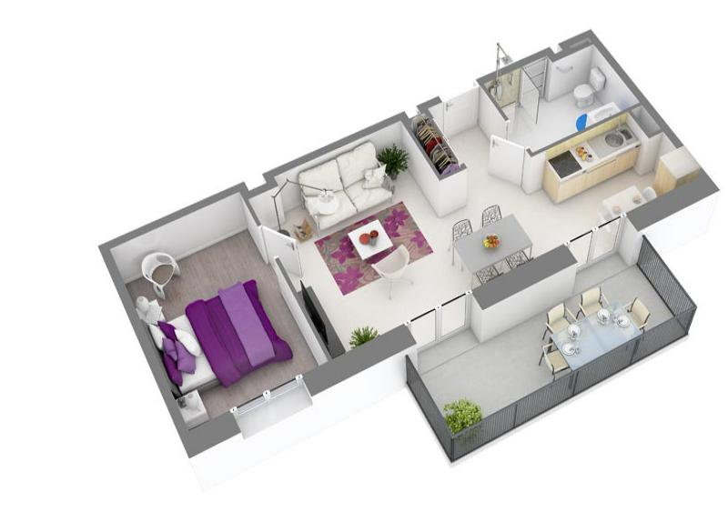 plan appartement residence senior