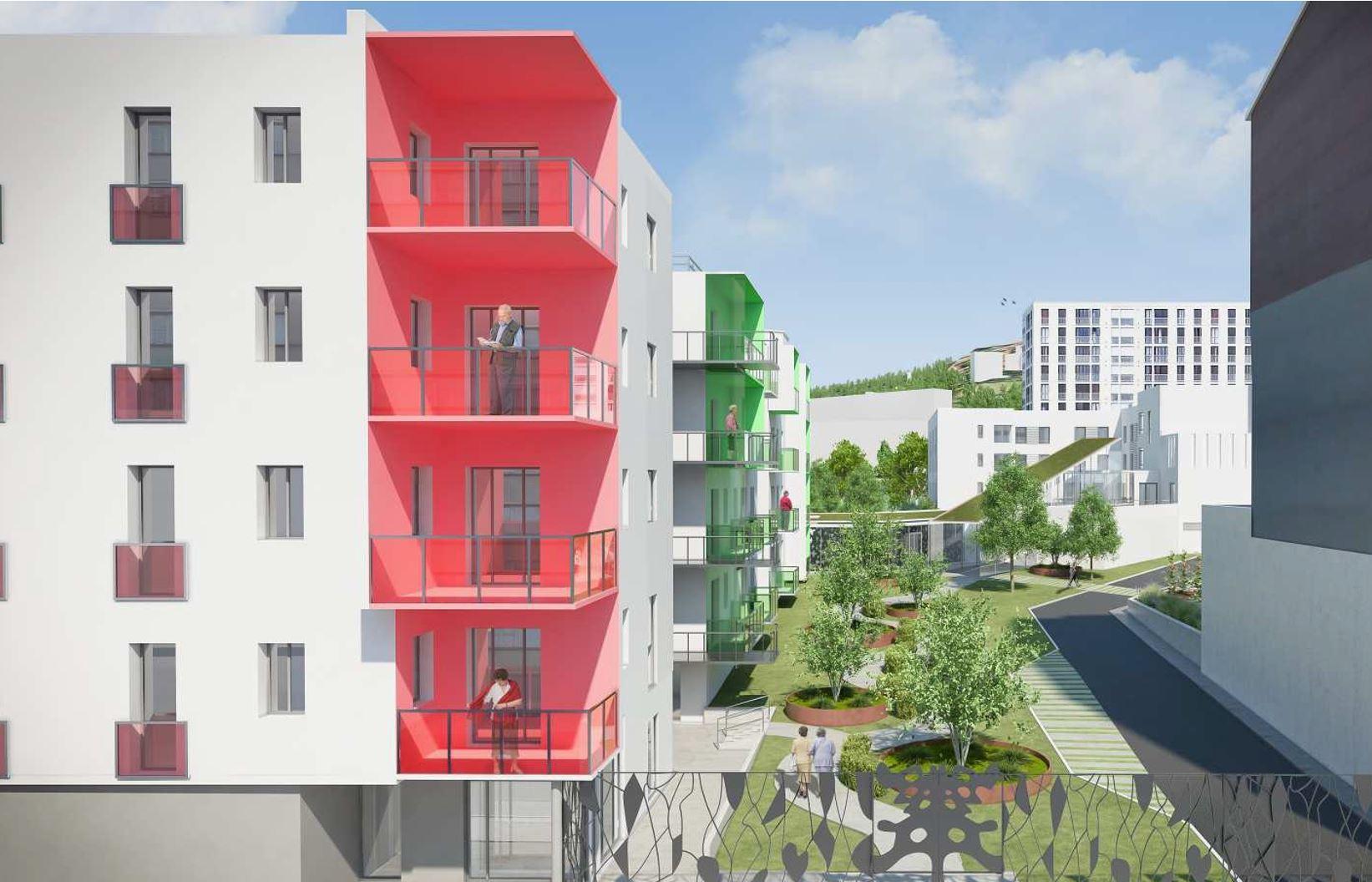 Cité des Ainés - Saint-Etienne : c'est parti, la première pierre est posée