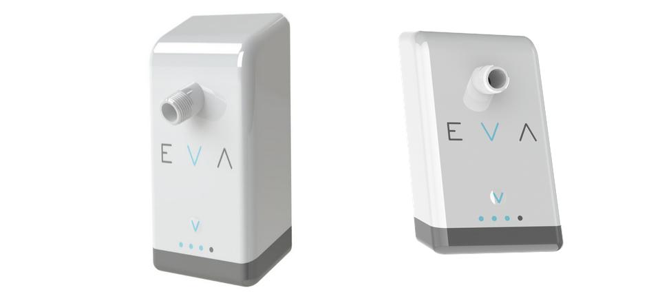 Eva, la douche connectée : Un boitier connecté qui transforme la pomme de douche en économiseur d'eau