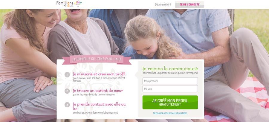Intergénérationnel:  Lancement du site Familions-nous