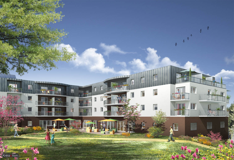 R sidence domitys le jardin d 39 eole 56600 lanester for Jardin residence