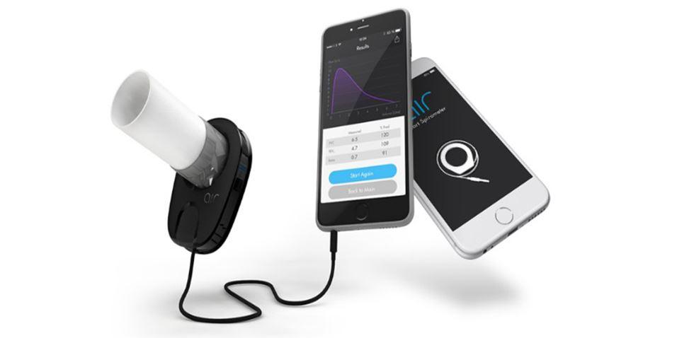 Un spiromètre connecté au smartphone